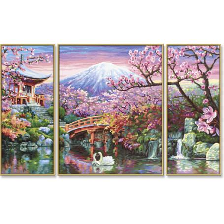 Kersenbloesems in Japan - Schipper Drieluik 50 x 80 cm