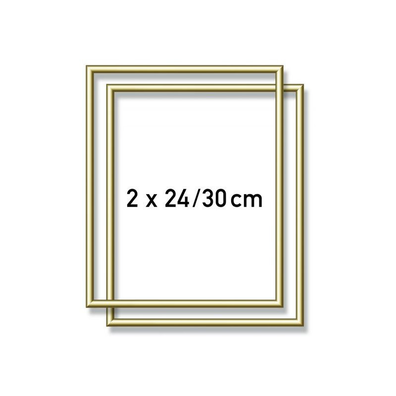 2 gold aluminium frames 24 x 30 cm schilderen op nummer. Black Bedroom Furniture Sets. Home Design Ideas