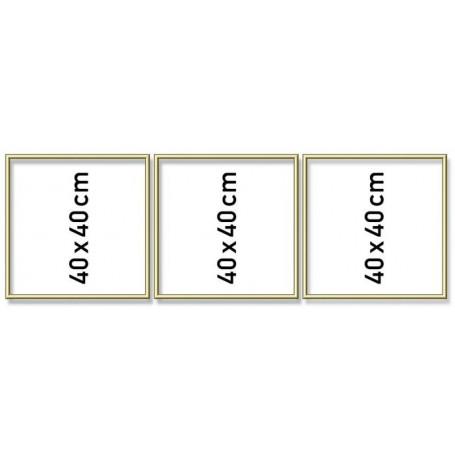 Aluminium lijst drieluik 40/120cm