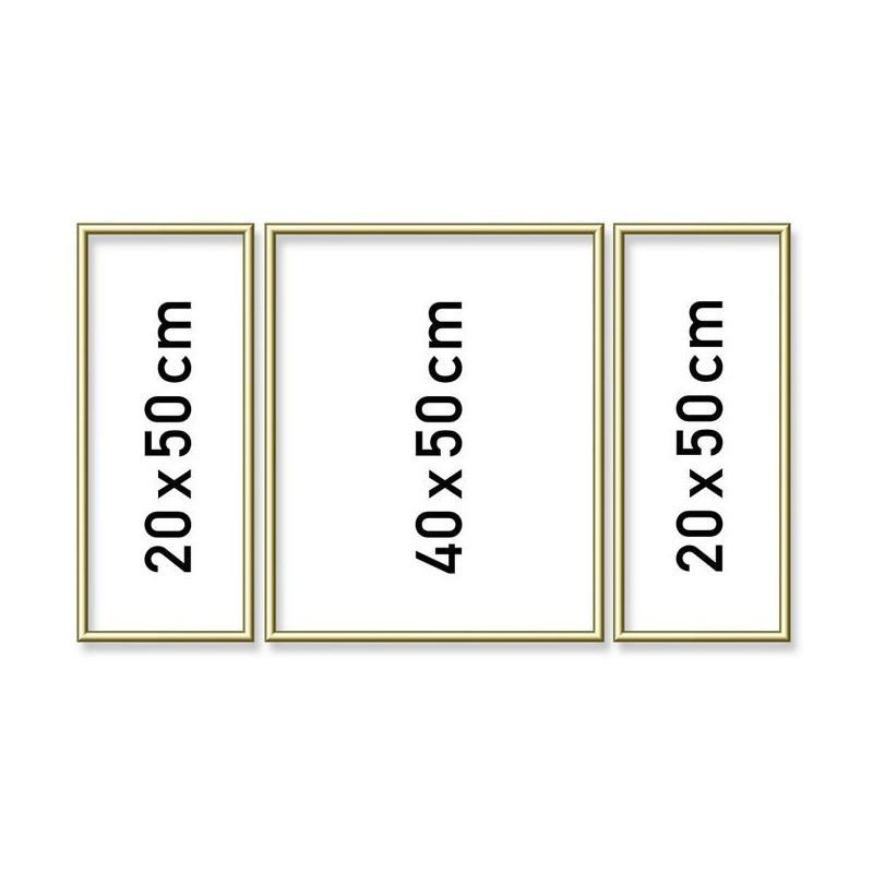 Aluminium lijst drieluik 50/80cm