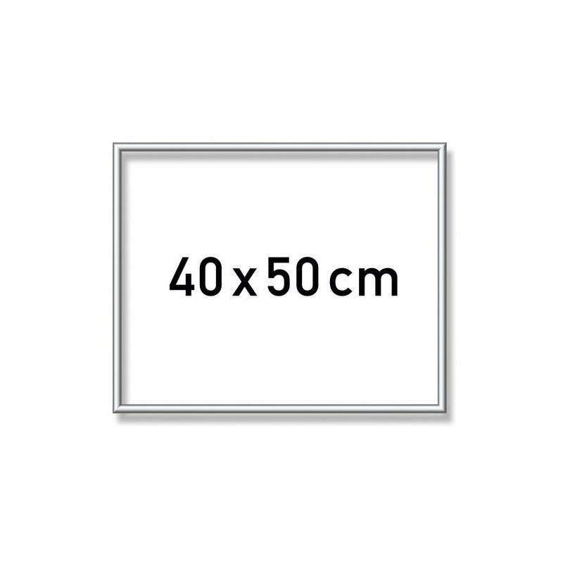 Zilverkl. aluminium lijst 40x50 cm