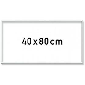 Zilverkl. Aluminium lijst 40x80 cm