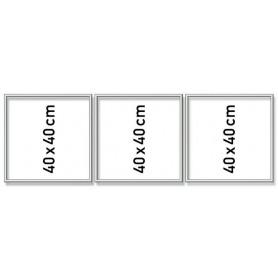 Zilverkl. aluminium lijst drieluik 40/120 cm