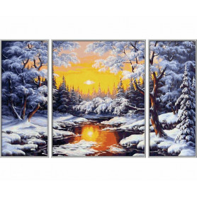 Schilderen op nummer: Een winterse droom